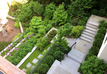Bird's eye view of steps and terraces series