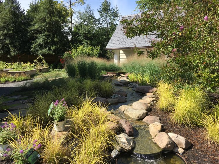 Cor-ten basin fountain