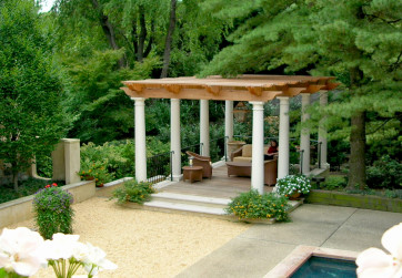 Side arbor creates lovely spot for respite and relaxation