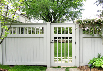 Custom wood gate and fence