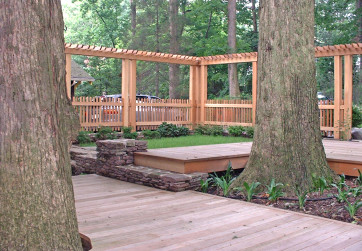 Floating decks can minimize tree damage and increase usable space