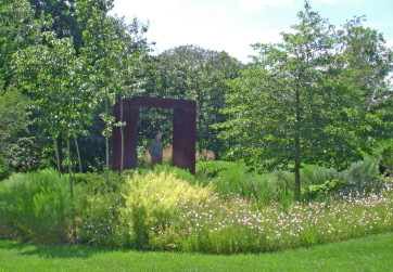 This modern meadow is low maintenance, and provide habitat for birds and pollinators