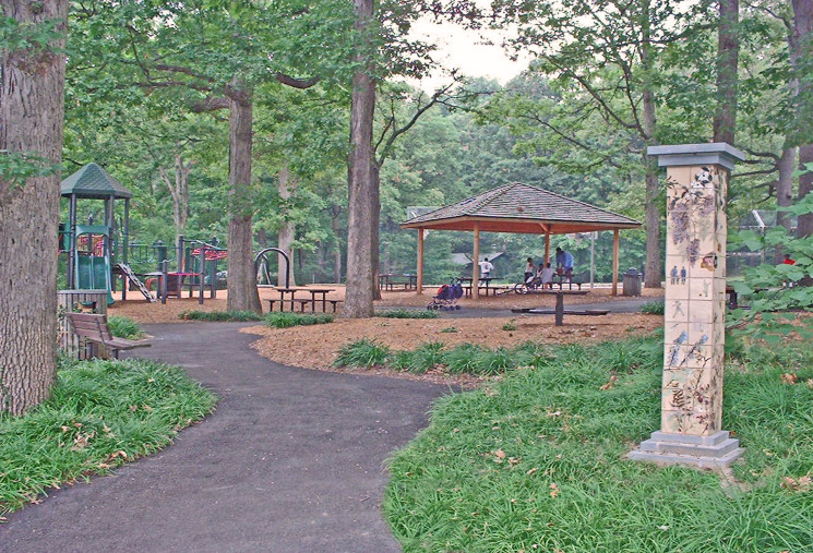 Overview of park from entrance