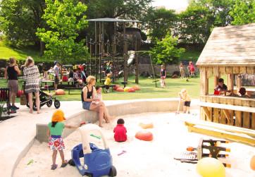 Sand play area