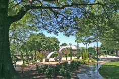 View of overall park with play structures