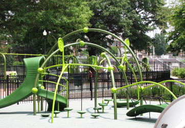 Fern green play equipment
