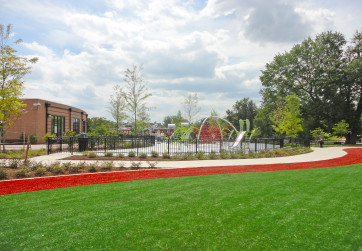View across multi-purpose athletic field