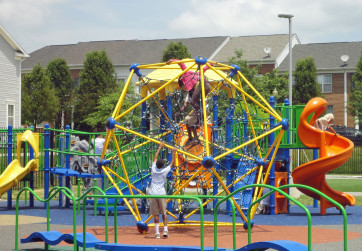 View of play equipment